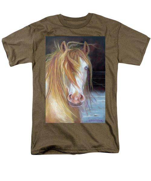White Chocolate Stallion Men's T-Shirt  (Regular Fit) by Karen Kennedy Chatham