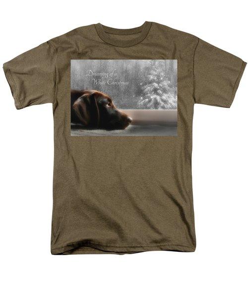 White Christmas Men's T-Shirt  (Regular Fit) by Lori Deiter