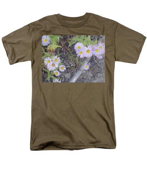 Men's T-Shirt  (Regular Fit) featuring the photograph White In The Wild by Fortunate Findings Shirley Dickerson