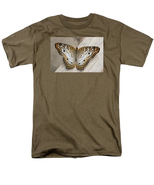 White Peacock Butterfly Men's T-Shirt  (Regular Fit) by Judy Whitton