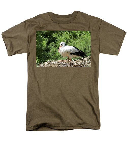 White Stork  Men's T-Shirt  (Regular Fit) by Teresa Zieba