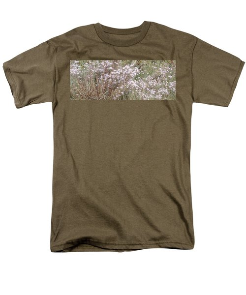 Men's T-Shirt  (Regular Fit) featuring the photograph White Wild Flowers by Fortunate Findings Shirley Dickerson