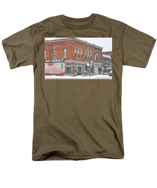 Whitehouse Ohio In Snow 7032 Men's T-Shirt  (Regular Fit) by Jack Schultz