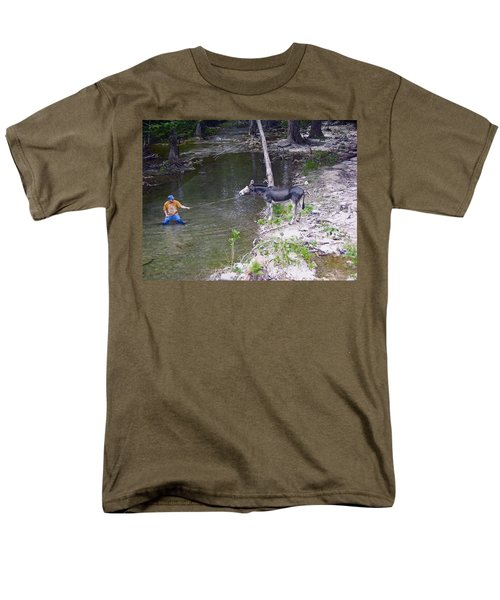 Men's T-Shirt  (Regular Fit) featuring the photograph Who Is More Stubborn by John Glass