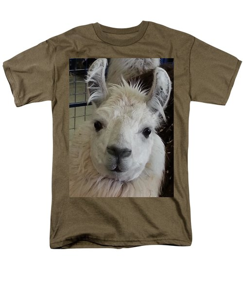 Men's T-Shirt  (Regular Fit) featuring the photograph Who Me Llama by Caryl J Bohn