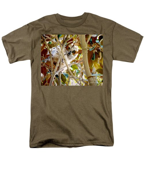 Whooo Are You? Men's T-Shirt  (Regular Fit) by Meghan at FireBonnet Art