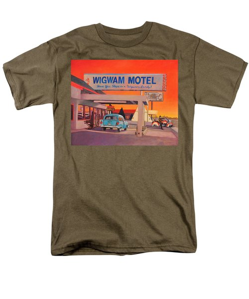 Men's T-Shirt  (Regular Fit) featuring the painting Wigwam Motel by Art James West