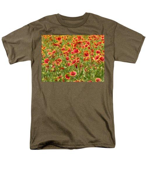 Men's T-Shirt  (Regular Fit) featuring the photograph Wild Red Daisies #1 by Robert ONeil