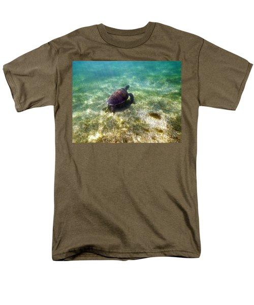Men's T-Shirt  (Regular Fit) featuring the photograph Wild Sea Turtle Underwater by Eti Reid