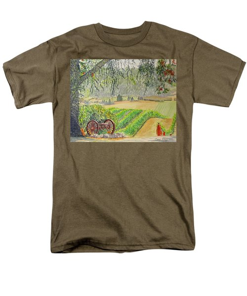 Men's T-Shirt  (Regular Fit) featuring the painting Willamette Valley Winery by Carol Flagg