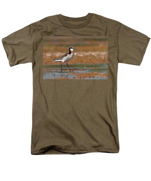 Wilson's Phalarope Calling Men's T-Shirt  (Regular Fit) by Bryan Keil