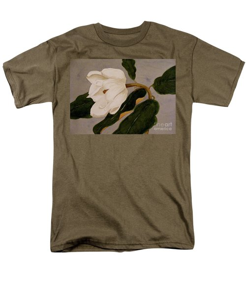 Men's T-Shirt  (Regular Fit) featuring the painting Windblown Magnolia by Nancy Kane Chapman