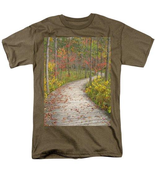 Winding Woods Walk Men's T-Shirt  (Regular Fit) by Ann Horn
