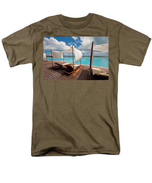 Windy Day At Maldives Men's T-Shirt  (Regular Fit) by Jenny Rainbow