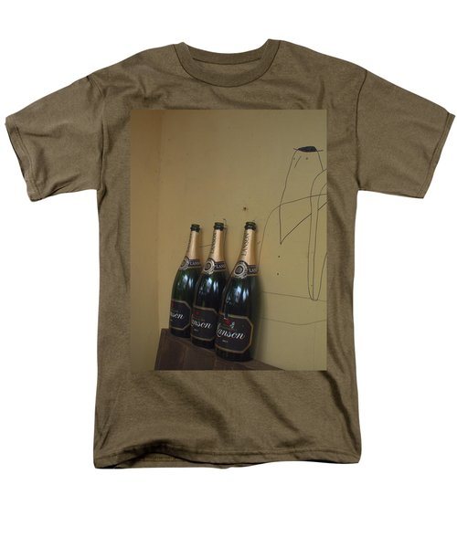Men's T-Shirt  (Regular Fit) featuring the photograph Wine And A Man by Rachel Mirror