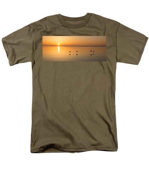 Men's T-Shirt  (Regular Fit) featuring the photograph Wings At Sunrise by Georgia Mizuleva