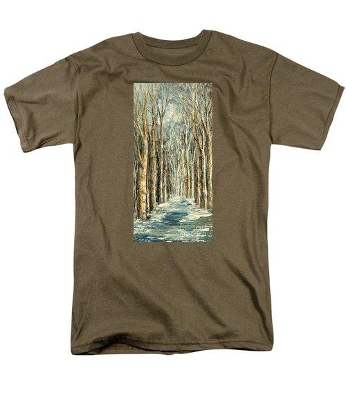 Men's T-Shirt  (Regular Fit) featuring the painting Winter Dreams by Tatiana Iliina