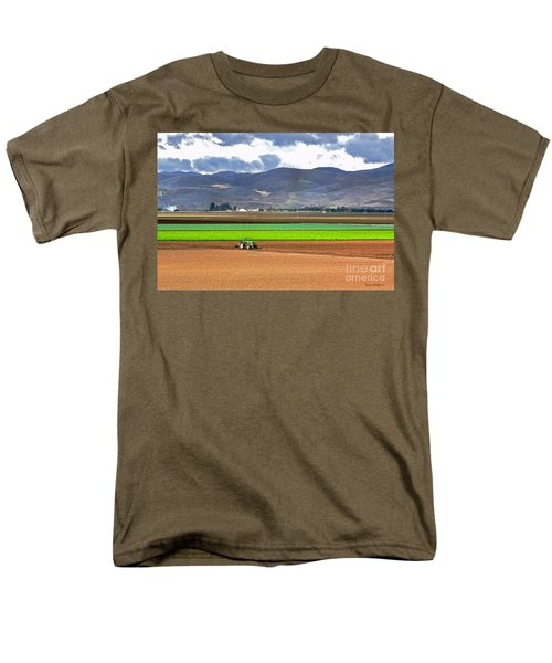 Winter Farm In California Men's T-Shirt  (Regular Fit) by Susan Wiedmann
