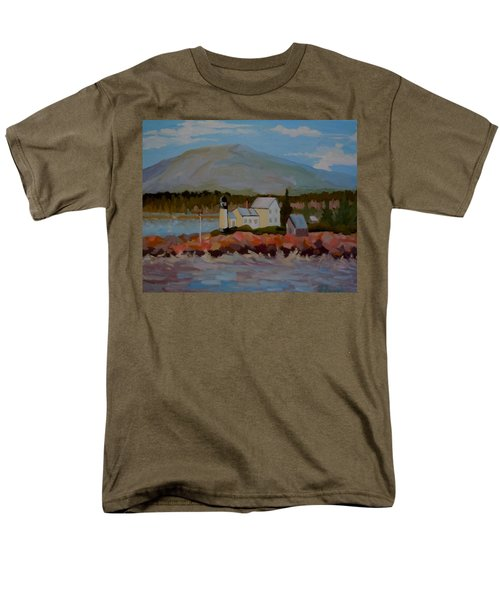 Winter Harbor Light Men's T-Shirt  (Regular Fit) by Francine Frank
