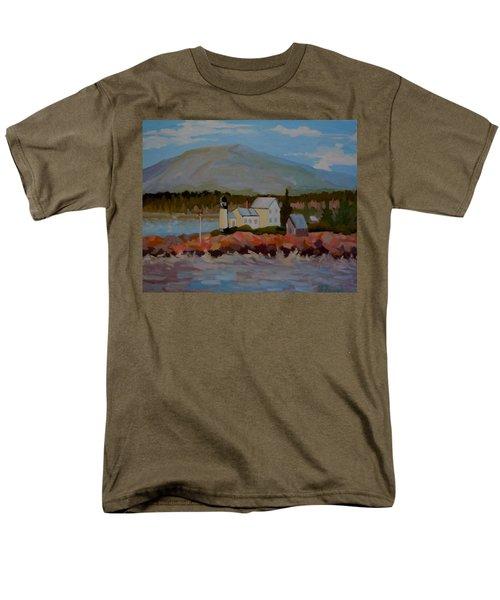 Winter Harbor Light Men's T-Shirt  (Regular Fit)