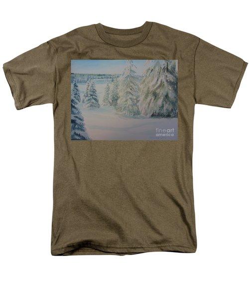Winter In Gyllbergen Men's T-Shirt  (Regular Fit) by Martin Howard