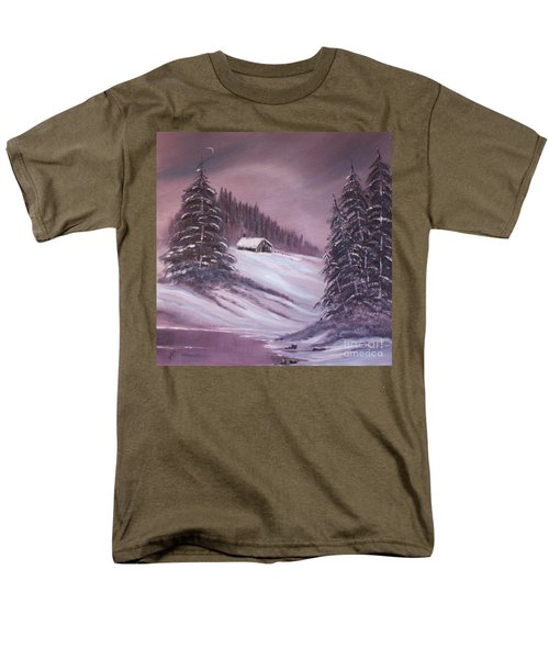 Men's T-Shirt  (Regular Fit) featuring the painting Winter Moon by Janice Rae Pariza