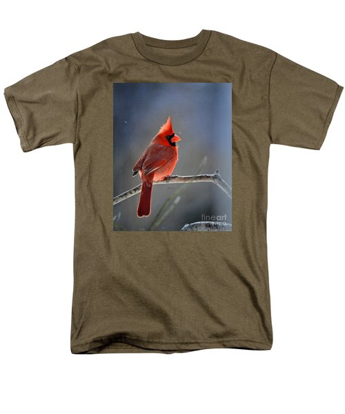 Winter Morning Cardinal Men's T-Shirt  (Regular Fit) by Nava Thompson