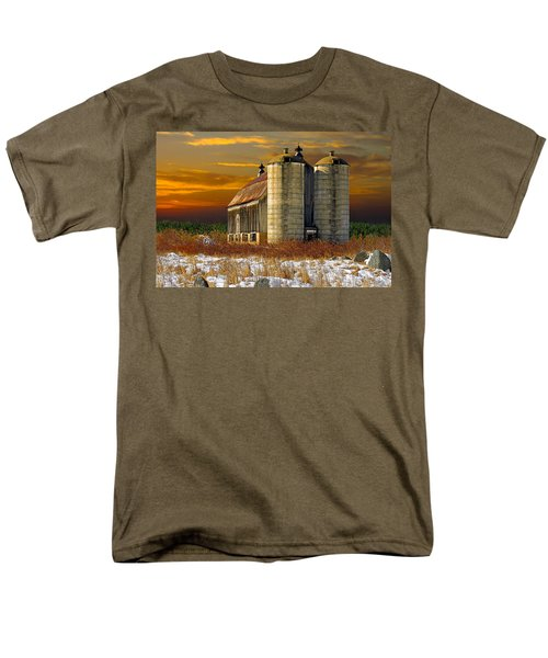 Men's T-Shirt  (Regular Fit) featuring the photograph Winter On The Farm by Judy  Johnson
