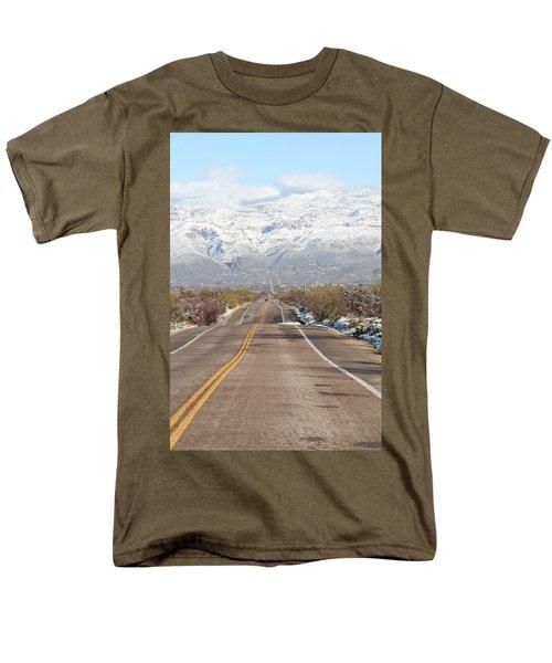 Winter Road Men's T-Shirt  (Regular Fit) by David S Reynolds