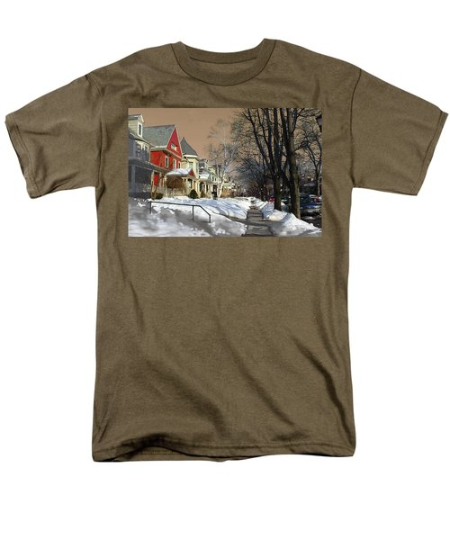 Men's T-Shirt  (Regular Fit) featuring the pyrography Winter Scenery  by Viola El