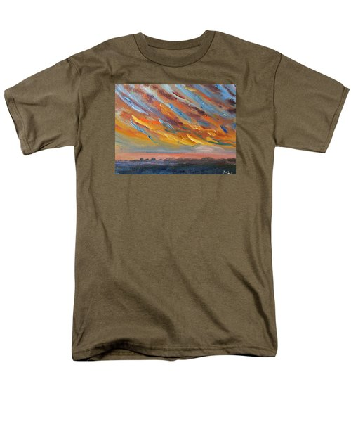 Winter Sunrise Over Provincetown Men's T-Shirt  (Regular Fit) by Michael Helfen