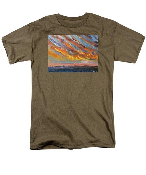 Winter Sunrise Over Provincetown Men's T-Shirt  (Regular Fit)