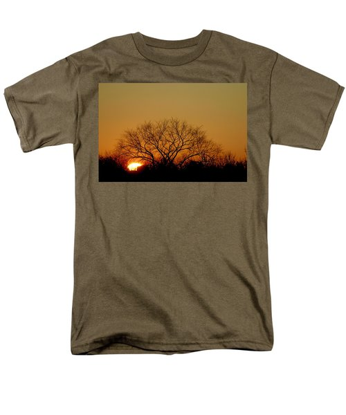 Winter Sunset Men's T-Shirt  (Regular Fit) by Leeon Pezok