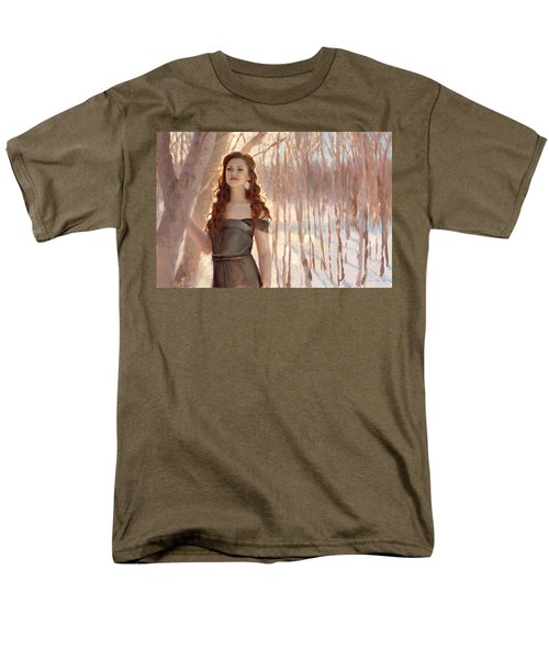 Winter Warmth - Figure In The Landscape Men's T-Shirt  (Regular Fit) by Karen Whitworth