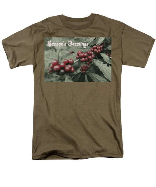 Men's T-Shirt  (Regular Fit) featuring the photograph Winterberry Greetings by Photographic Arts And Design Studio