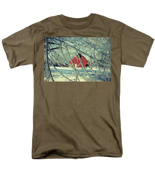 Our Frosty Barn Men's T-Shirt  (Regular Fit) by Julie Hamilton