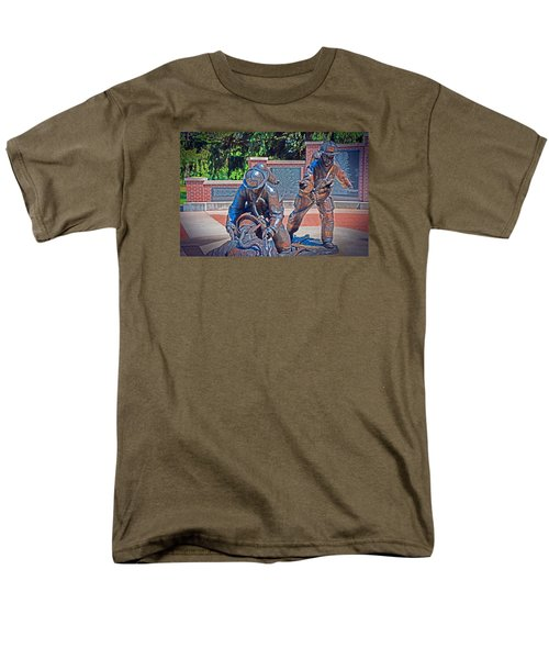 Men's T-Shirt  (Regular Fit) featuring the photograph Wisconsin State Firefighters Memorial Park 2 by Susan  McMenamin