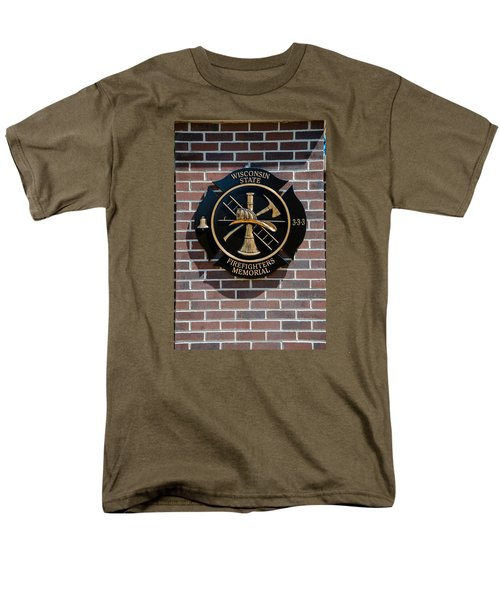 Men's T-Shirt  (Regular Fit) featuring the photograph Wisconsin State Firefighters Memorial Park 5 by Susan  McMenamin