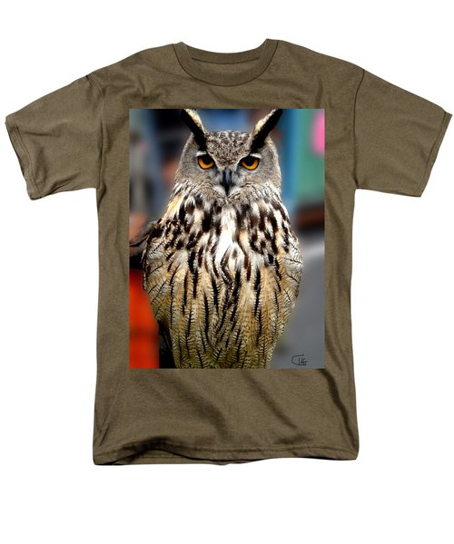 Wise Forest Mountain Owl Spain Men's T-Shirt  (Regular Fit) by Colette V Hera  Guggenheim