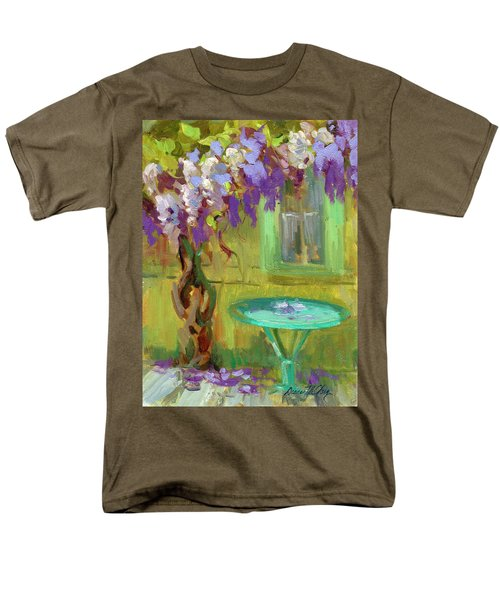 Wisteria At Hotel Baudy Men's T-Shirt  (Regular Fit) by Diane McClary