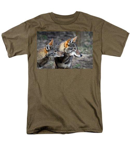 Wolf Alert Men's T-Shirt  (Regular Fit) by Steve McKinzie