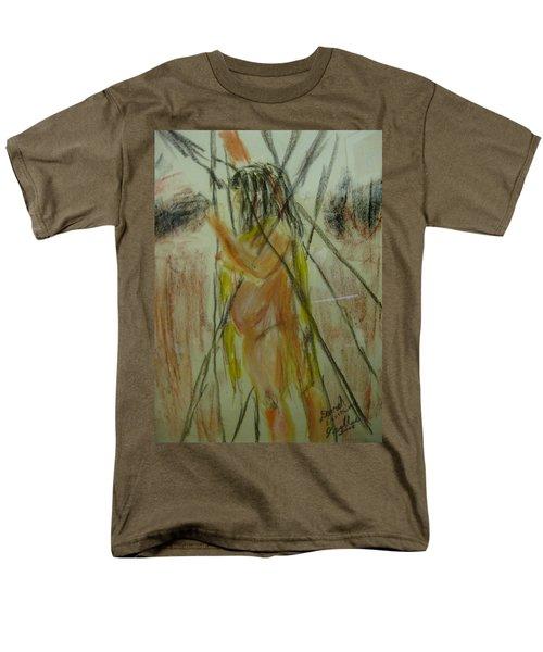 Woman In Sticks Men's T-Shirt  (Regular Fit) by David Trotter