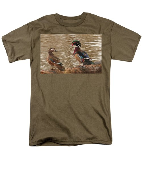 Wood Duck Photo Men's T-Shirt  (Regular Fit) by Luana K Perez