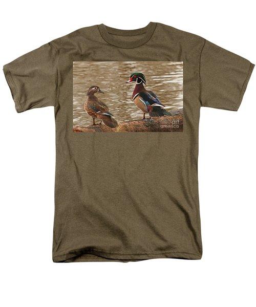 Men's T-Shirt  (Regular Fit) featuring the photograph Wood Duck Photo by Luana K Perez