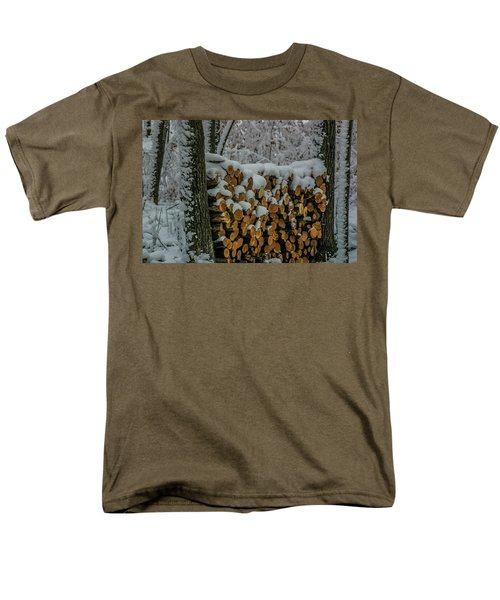 Wood Pile Men's T-Shirt  (Regular Fit) by Paul Freidlund