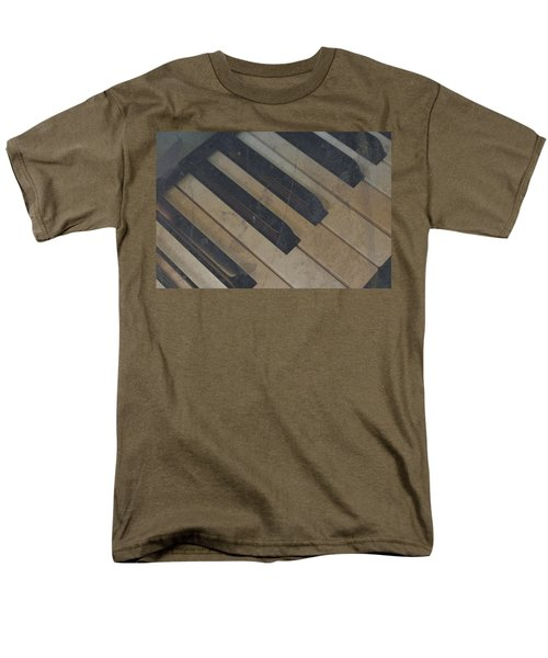 Men's T-Shirt  (Regular Fit) featuring the photograph Worn Out Keys by Photographic Arts And Design Studio