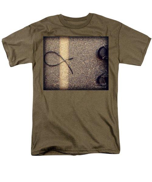 Men's T-Shirt  (Regular Fit) featuring the photograph X On The Line by Meghan at FireBonnet Art