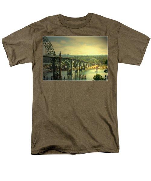Yaquina Bay Bridge Or Men's T-Shirt  (Regular Fit) by Joyce Dickens