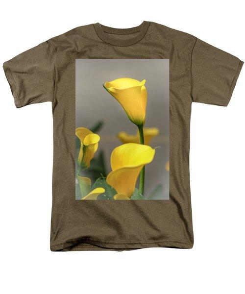Yellow Calla Lilies Men's T-Shirt  (Regular Fit) by Menachem Ganon