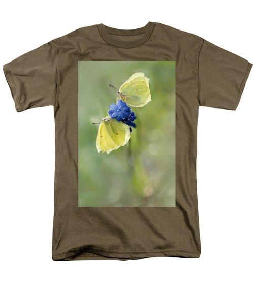 Yellow Duet Men's T-Shirt  (Regular Fit)
